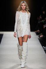 Vestido de Encaje Vestido de TI: Isabel Marant AW11 Mana flecos & Abalorios Stretch Sz3/UK12