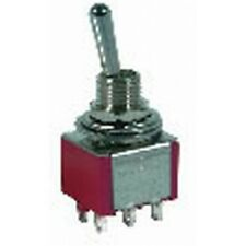 DPDT Miniature Toggle Switch Solder Tag ST0336 250VAC 2A 120VAC 5A Momentary