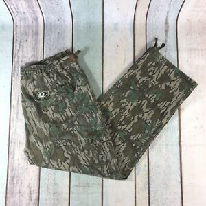 Mossy Oak Cargo Trousers Realtree Camo Zip Vintage Hunting XL X Large
