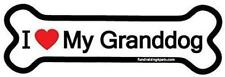 "I Love My Granddog Bone Car Fridge Magnet 7"" X 2"" Dog Gift Puppy Buy2Get1Free"