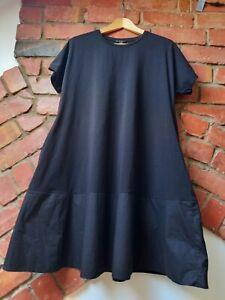 COS black A-line  T-shirt dress, size M. New