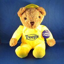 Peeps - Teddy Bear in Hooded Pajamas PJs - Yellow - Plush - Easter - NEW