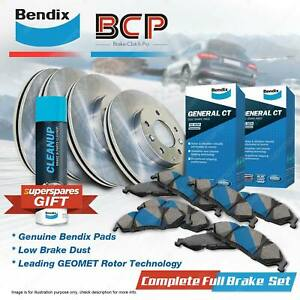 Front + Rear BCP Brake Rotors Bendix Pads for Mazda 323 Astina 323 Protege BJ