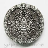 Aztec Mayan Calendar Metal Fashion Belt Buckle