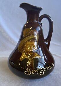 "Antique Royal Doulton Kingsware Flask ""Ben Jonson"" Signed Noke ca 1909"