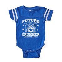 CafePress Future Drummer Like My Daddy Baby Football Bodysuit (325455058)