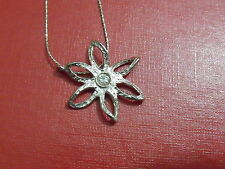 Modern sterling silver  flower  pendant jewelry classic well decorated (ZV)