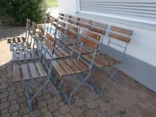 Alter Gartenstuhl Biergartenstuhl Klappstuhl Vintage Shabby Chic Holz Metall  oa