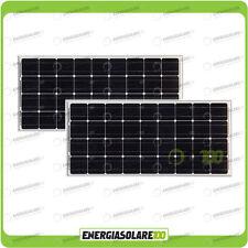 Set 2 Pannelli Solari Fotovoltaici 100W 12V Monocristallino Pmax 200W Baita Barc