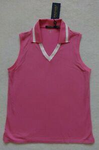 Polo Golf Ralph Lauren Sleeveless Top Womens Size L Pink Wicking $90