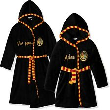 Harry Potter Kids Adults Dressing Gown Bathrobe Robe PERSONALISED 5-13y M-XL