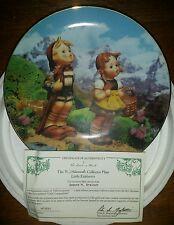"Mj Hummel ""Little Explorers"" Plate Danbury Mint Great Condition Coa. (8),(3B)"