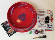 BEYBLADE METAL FUSION SUPER VORTEX BATTLE SET W/RULE BOOK & TOURNY GRIDS AGES 8+
