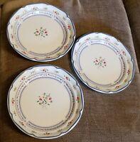 "International Calico Stoneware From Japan, Salad Plates....Set of 3....7.5"""