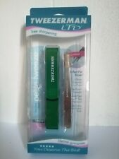 Petite Tweezerman Brows Slant Stainless Steel Tweezer with Green Case Brand New