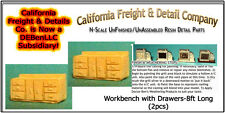 Workbench with Drawers-8ft Long N/Nn3/1:160-Scale CAL Freight & Details *NEW*