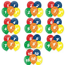 10 Luftballons mit Zahlen Luftballon Zahl Geburtstag Jubiläum