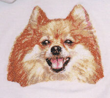 Large Embroidered Zippered Tote - Pomeranian DLE2507