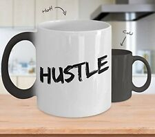 Hustle - Magic Color Changing Mug - Inspirational Motivational Gift - Coffee Cup