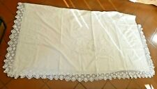 ANTICO LENZUOLO MATRIMONIALE RICAMO PIZZO ANTIQUE ITALIAN EMBROIDERY BED SHEETS