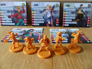 Zombicide 2nd Edition: Bruin, Leah, Phil, Laura, Victor! Kickstarter Exclusive