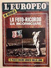L'Europeo n.33 anno 1969 - La foto ricordo da incorniciare