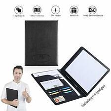Leather Portfolio Folder Padfolio for Business School Office Conference Presenta