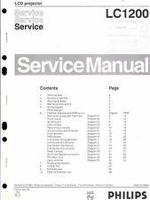 PHILIPS Original Service Manual per LCD-Proiettore LC 1200