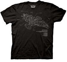 Firefly Tv Series / Serenity Movie Ship Diagram with Legend T-Shirt New Unworn