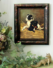 Emms IN THE NURSERY Dog Hunting Horse Puppy Print Vintage Styl Framed 11X13