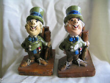 "chalkware Akron Oh 1975 bookends hollendorfer vintage 8"" tall quite heavy"