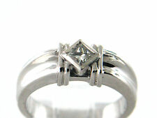 0.30 CT Natural Princess Cut Diamond Lady's Solitaire Ring VS/G 950 Platinum