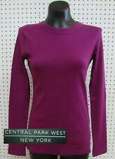 Central Park West Women's Long Sleeve T-Shirt-RICH PINK-Small-NWT