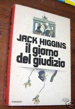 IL GIORNO DEL GIUDIZIO J. HIGGINS I ED. 1970 Mondadori L1