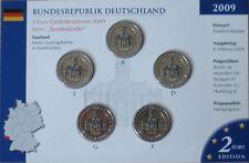 "MDS Allemagne 2 Euro-Set 2009 ""Ludwig église"" coloriert"