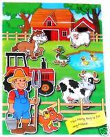 15 x Farm Animal Party Loot Bags - 16 x 23cm - Empty