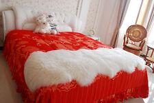 Ultra Fleece Double Sheepskin Rug 180cm+ Genuine Lambskin Eco-Tan Sanitized