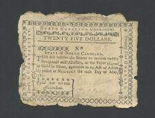 More details for united states $25 1780 north carolina nc-191d colonial currency banknotes