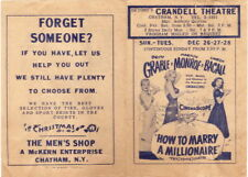 Marilyn Monroe, How To Marry A Millionaire, Crandell Theatre, Chatham, NY, Handb