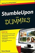 StumbleUpon For Dummies - LikeNew - Olenski, Steve - Paperback