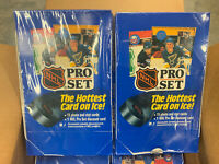 Lot Of 2 1990 Pro Set NHL Hockey Series 1 Sealed Boxes Factory From Case