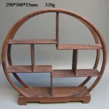 Oriental Collection Wood Curve Shelf for Vase,Snuff Bottle&Snuff Bottle Shelf