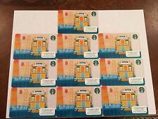 "Starbucks 2015  ""San Francisco Cable Car Golden Gate Bridge ""  Cards Lot Of 10"