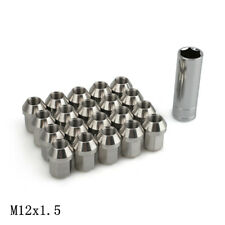 20pc Stainless Steel Wheel Nuts 12x1.5 Close End Tapered 19mm Hex Lug Bolts Stud