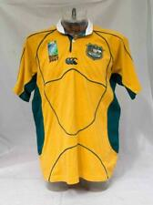 Mens Australia Rugby Union 2007 World Cup Shirt Size Large Lot T50