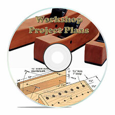 Workshop Wood Plans, Workbench Drill Press Table Homemade Lathe, Router Table CD