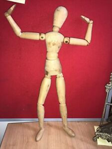 Wooden fully jointed  human figure for artistic use 40 cm / 16 inch tall