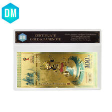 Russian 100 Ruble 24k Gold Foil Banknote World Cup Commemorative Plastic Card