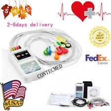 USA FDA CONTEC TLC5000 12-Channel 24H Dynamic Holter ECG PC synchro analysis