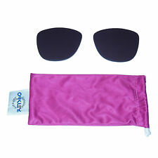 New/BLEMISHED Oakley Frogskins OEM Warm Grey Sunglass Lens +Pink Microfiber Bag